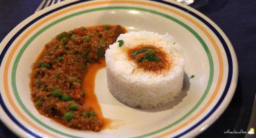 Curry d'agneau haché