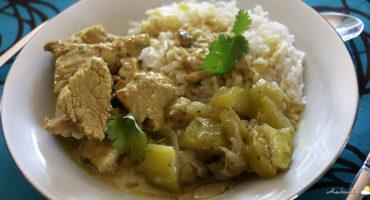Curry de veau aux pois chiches et noix de cajou