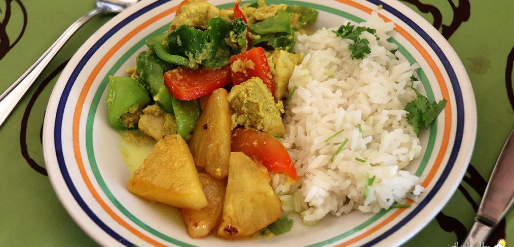 Curry Thaï et riz blanc