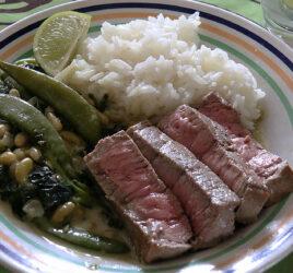 Tournedos et curry de légumes aux flageolets