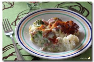 Chou-fleur & brocoli au gratin et à l'estragon